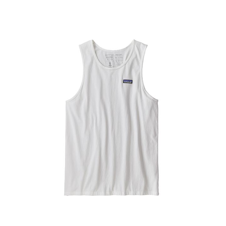 Patagonia P-6 Label Organic Heren Hemd White - Monkshop