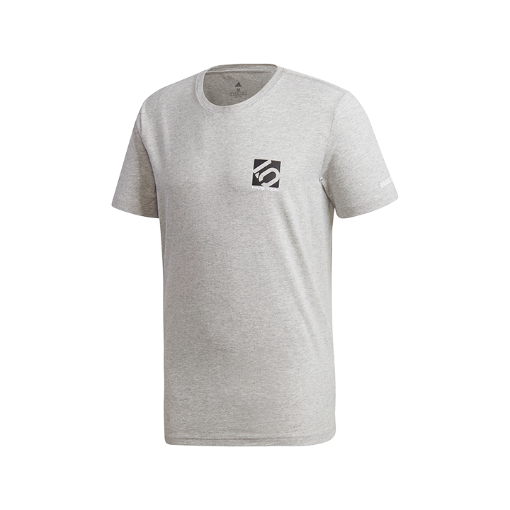 Adidas Five Ten 5.10 Logo Unisex T-Shirt Medium Grey Heather - Monkshop