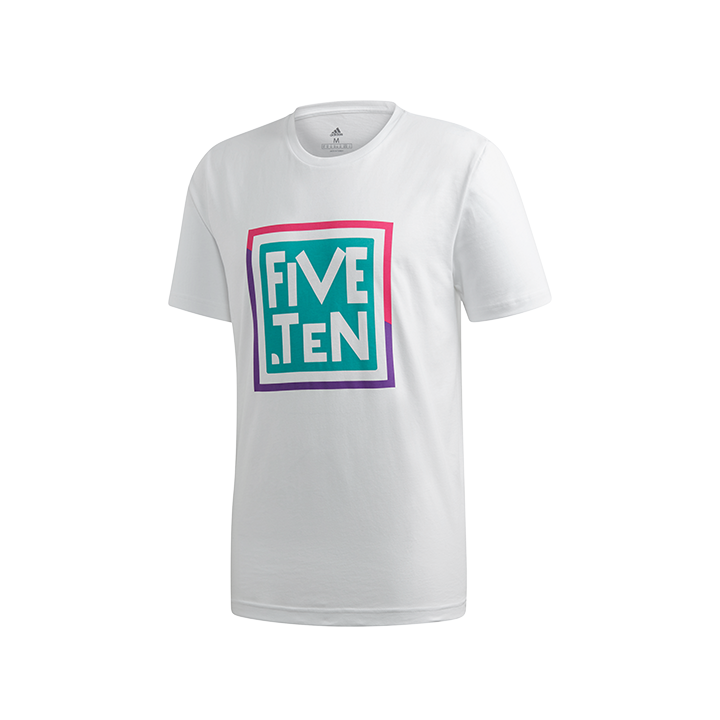 Adidas Five Ten 5.10 Heritage GFX Unisex T-Shirt White - Monkshop