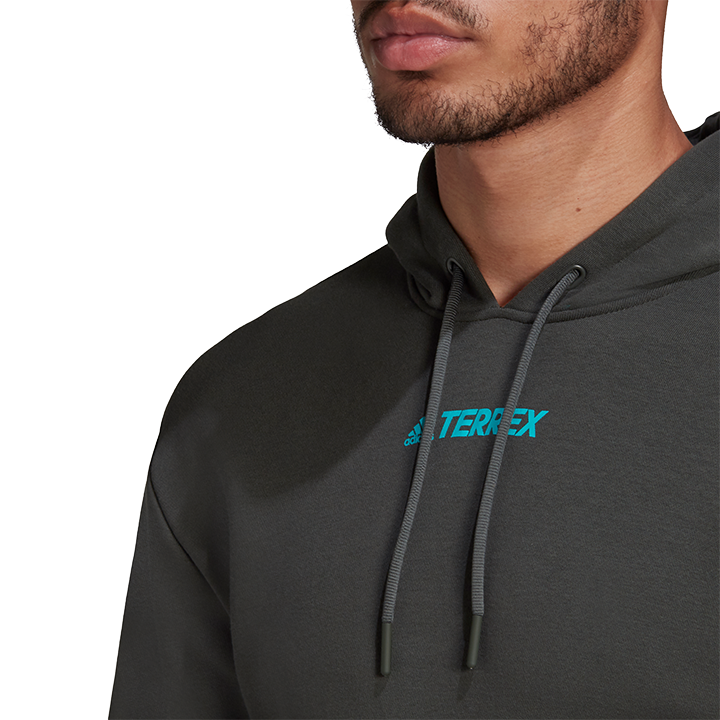 Adidas Terrex Logo Unisex Hoody Legend Earth - Monkshop