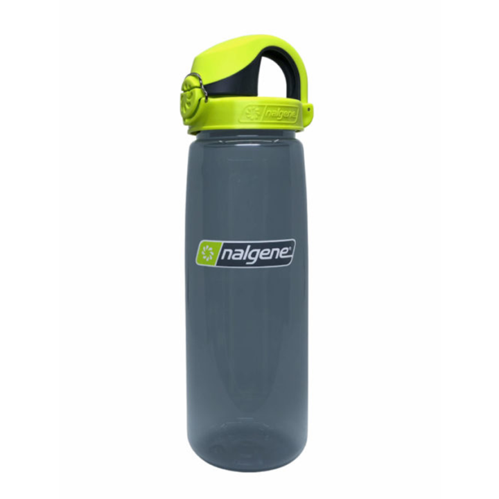 Nalgene On The Fly 750ml Drinkfles Charcoal w/ Charcoal Lime Cap - Monkshop