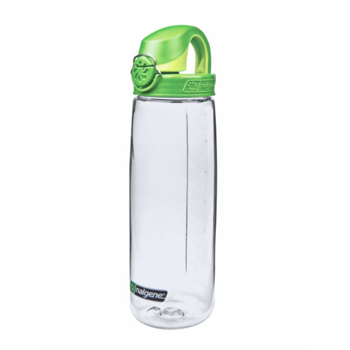 Nalgene On The Fly 750ml Drinkfles Clear w/ Sprout Green Cap - Monkshop