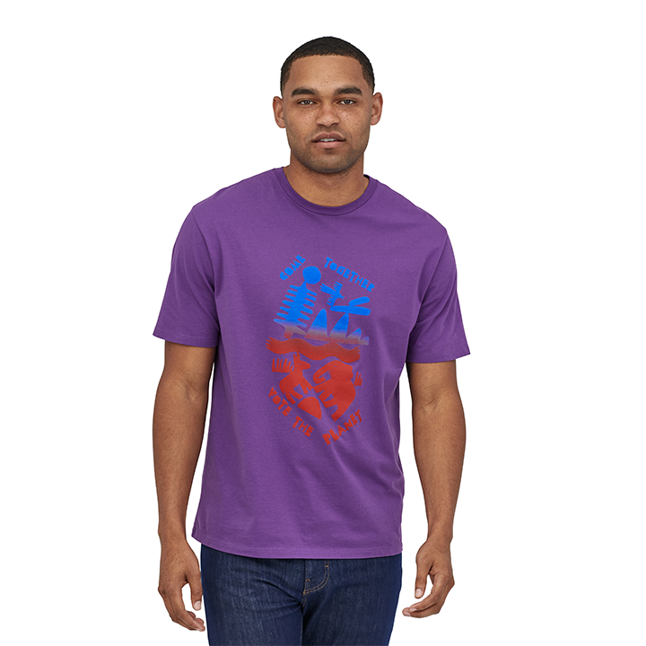 Patagonia Together For The Planet Organic T-Shirt Purple - Monkshop