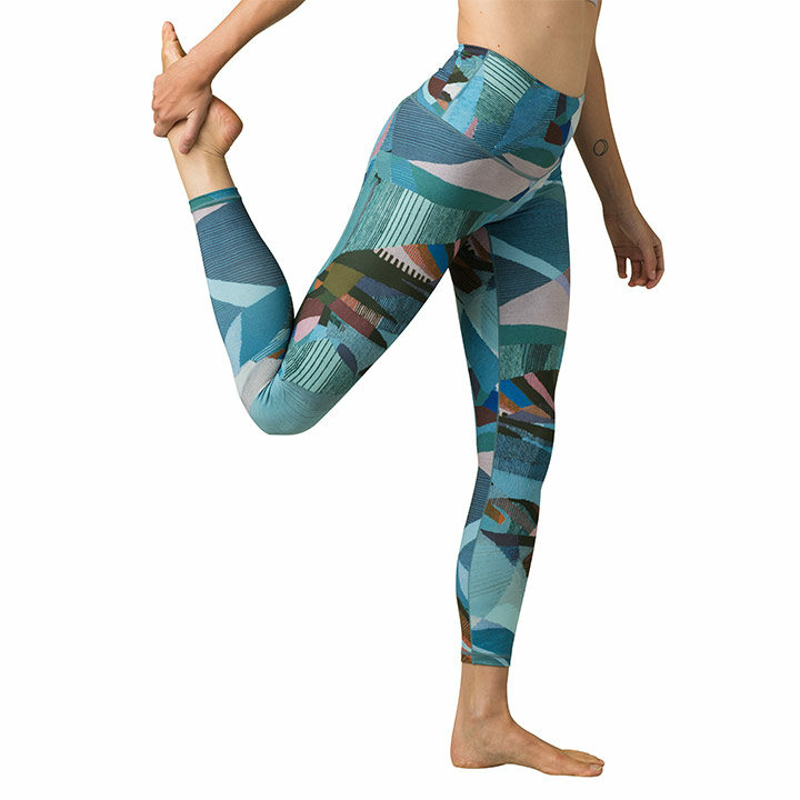 Prana Kimble Printed 7/8 Legging Peacock Mixer - Monkshop