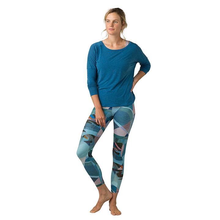 Prana Kimble Printed 7/8 Legging Peacock Mixer - Monkshop