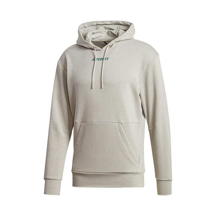 Adidas Terrex Logo Unisex Hoody Metal Grey - Monkshop