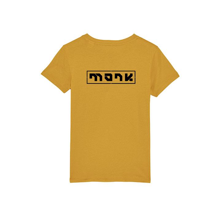 Monk Logo Kinder T-Shirt Ochre - Monkshop
