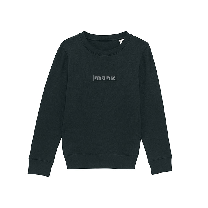 Monk Logo Kindertrui Black - Monkshop