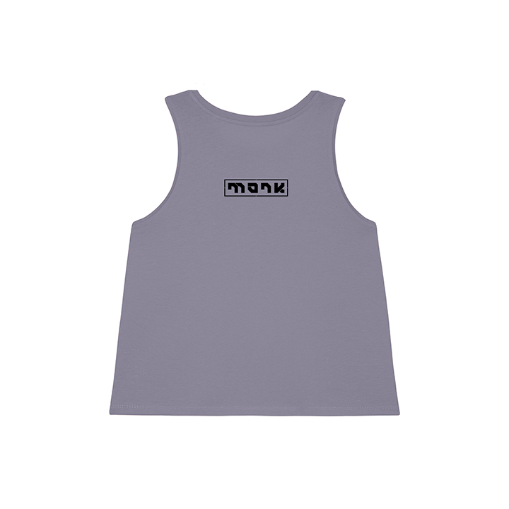 Monk Logo Relaxed Dameshemd Lava Stone Grey - Monkshop