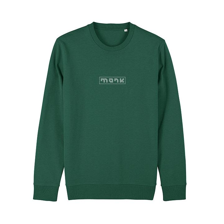 Monk Logo Unisex Trui Relaxed Fit Bottle Green - Monkshop