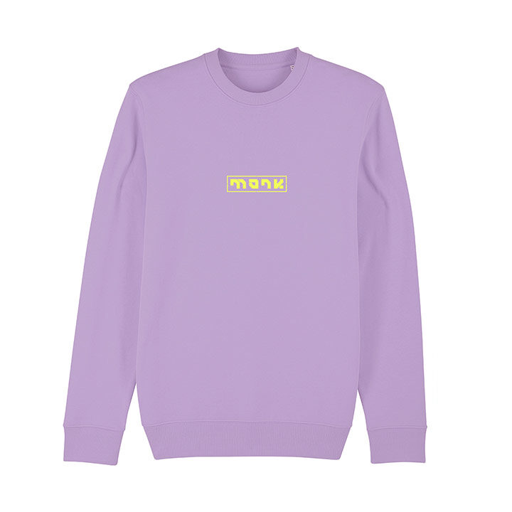 Monk Logo Unisex Trui Relaxed Fit Lavender Dawn - Monkshop