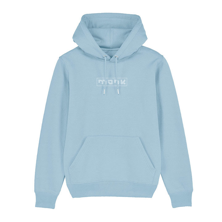 Monk Logo Unisex Hoody Sky Blue - Monkshop