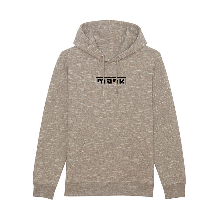 Monk Logo Unisex Hoody Wooden Heather - Monkshop