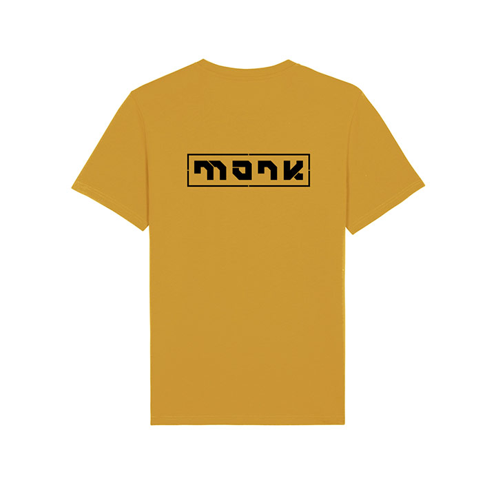 Monk Logo Unisex T-Shirt Ochre - Monkshop