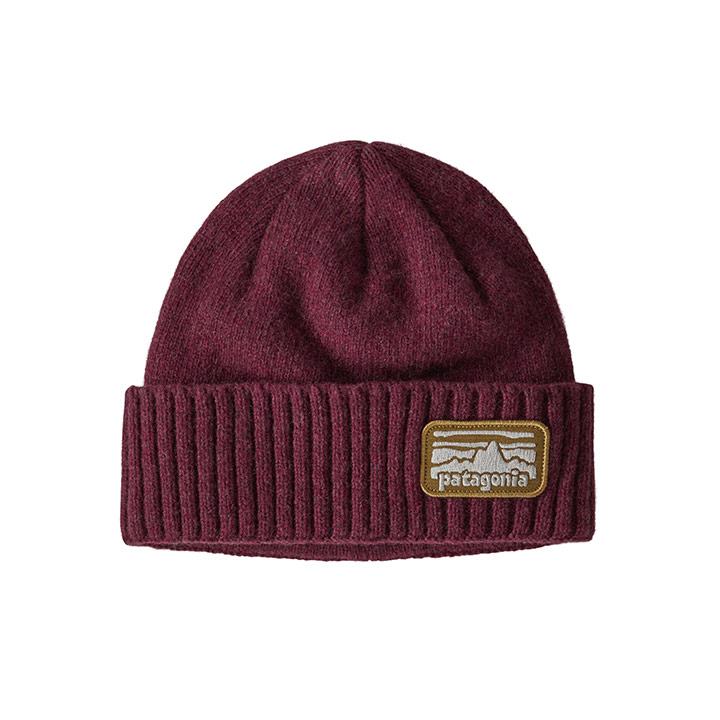 Patagonia Brodeo Beanie Fitz Roy Rambler: Chicory Red - Monkshop