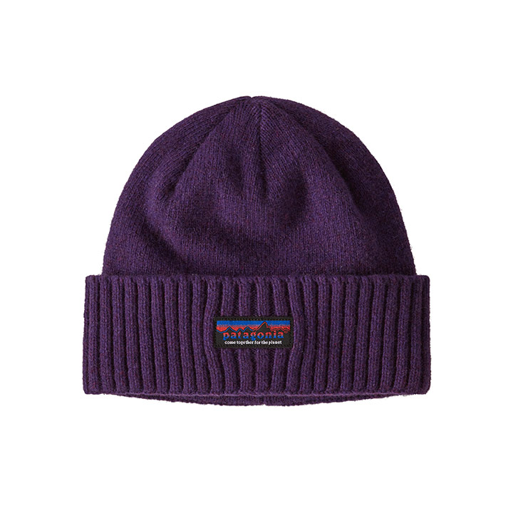 Patagonia Brodeo Beanie Together For The Planet Label: Purple - Monkshop