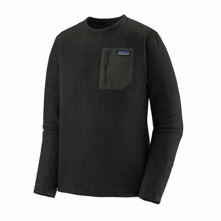 Patagonia R1 Air Crew Heren Pullover Black - Monkshop