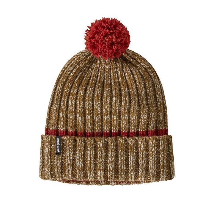 Patagonia Wool Pom Beanie Horizon Knit Hot Ember - Monkshop