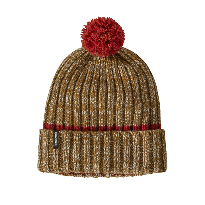 Patagonia Wool Pom Beanie Horizon Knit Hot Ember - Monkshop