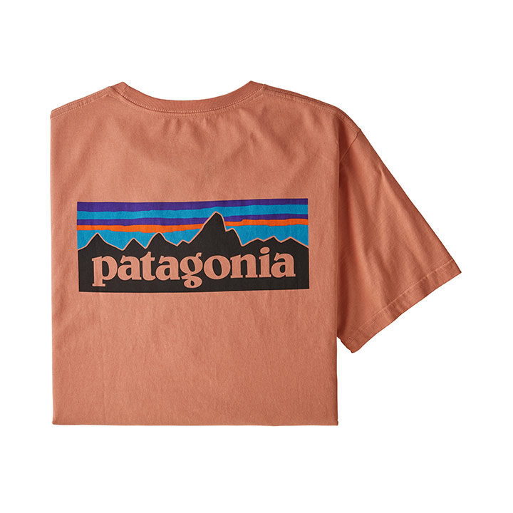 Patagonia P-6 Logo Organic Heren T-Shirt Mellow Melon - Monkshop