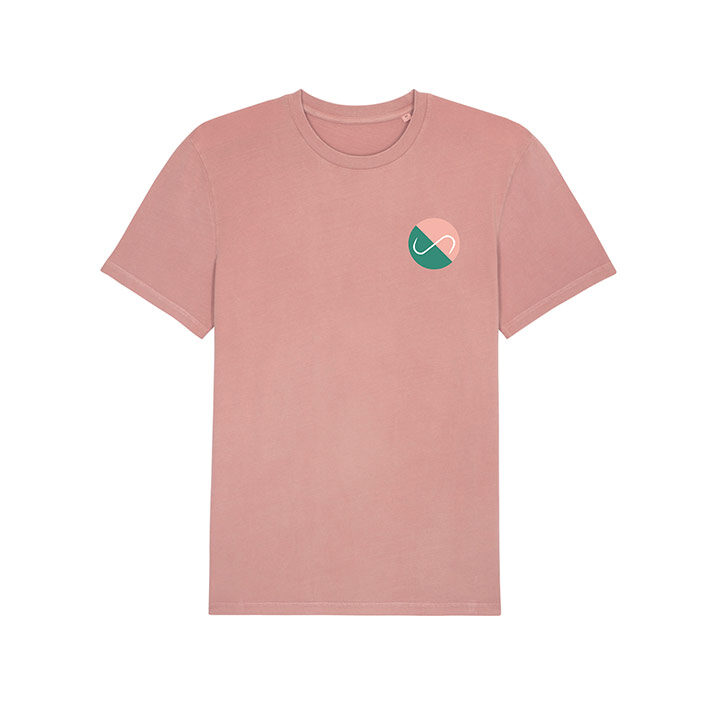 Club Monk X Vleeshaak T-Shirt Vintage Dyed Canyon Pink - Monkshop