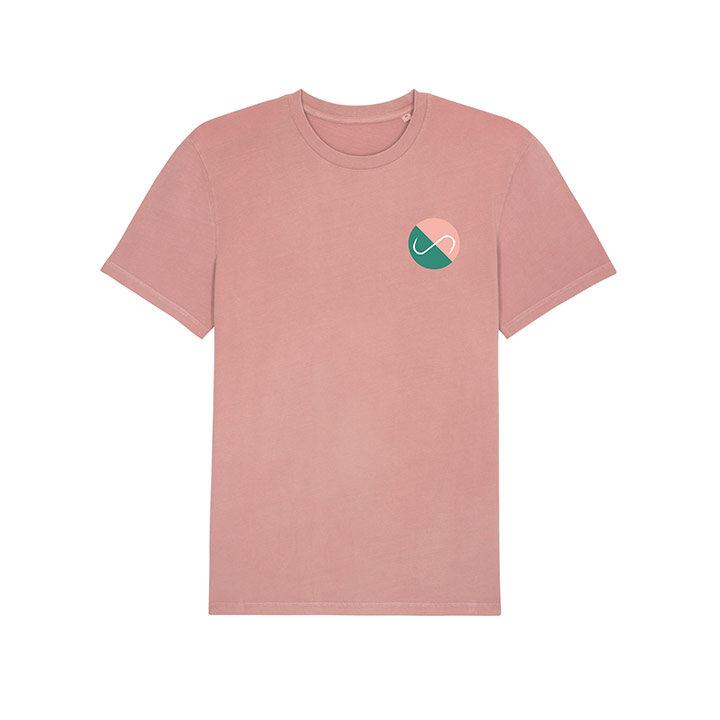 Club Monk X Vleeshaak T-Shirt Vintage Dyed Canyon Pink - Monkshop