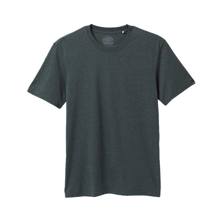 Prana Crew Heren T-Shirt Batik Heather - Monkshop