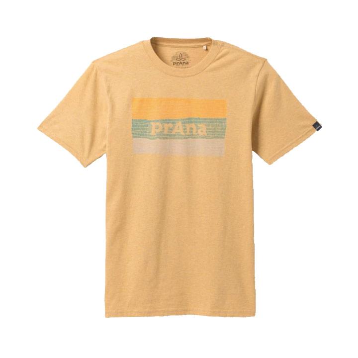 Prana Iconicon Heren T-Shirt Pollen Heather - Monkshop