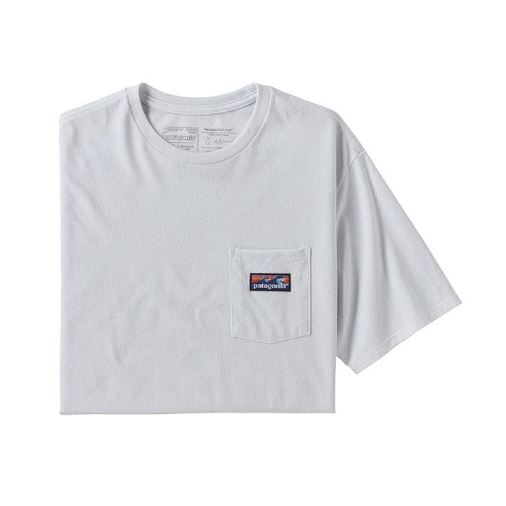 Patagonia Boardshort Label Pocket Responsibili-tee Heren T-Shirt White - Monkshop