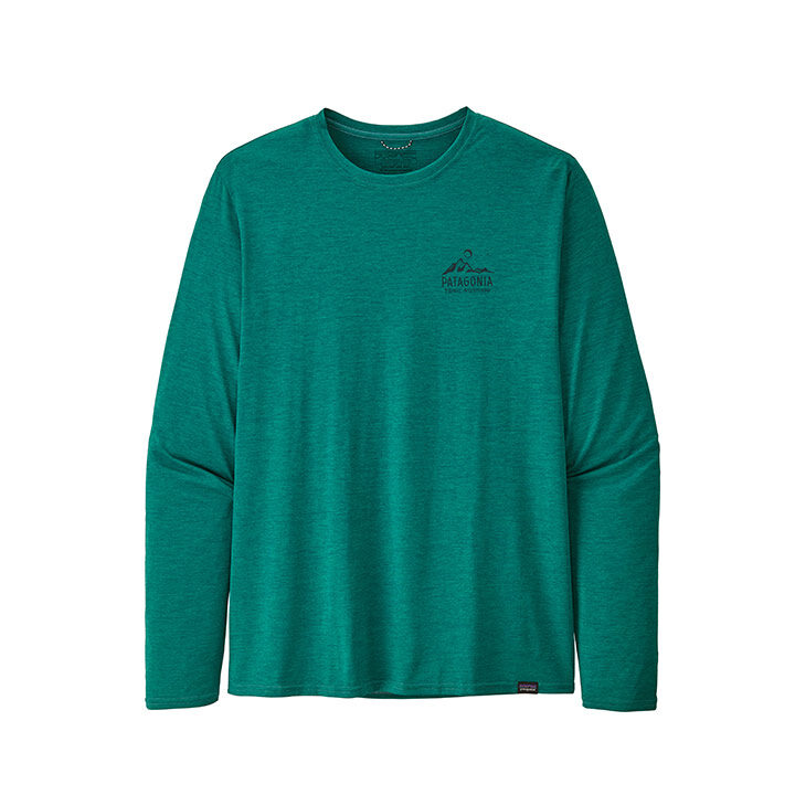 Patagonia Capilene Cool Daily Heren Longsleeve Borealis Green X-Dye - Monkshop
