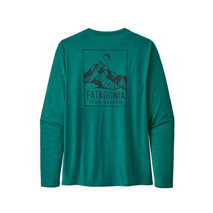 Patagonia Capilene Cool Daily Heren Longsleeve Borealis Green X-Dye - Monkshop