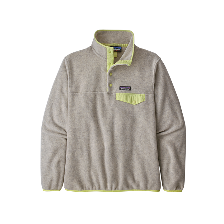 Patagonia Lightweight Synchilla Snap-T Damespullover Oatmeal Heather Jellyfish Yellow - Monkshop