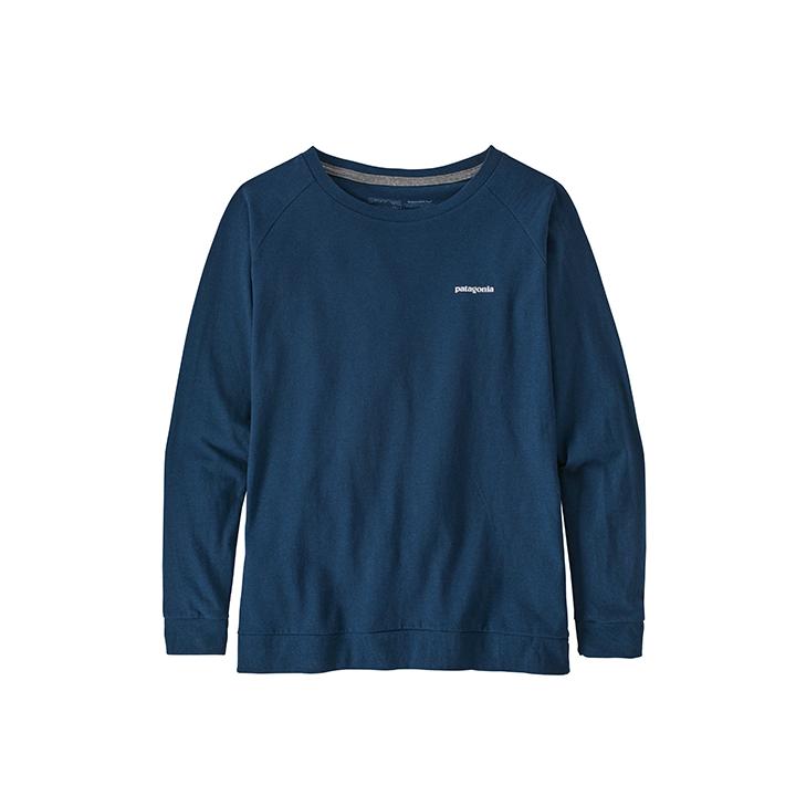 Patagonia Pastel P-6 Logo Responsibili-Tee Dames Longsleeve Crater Blue - Monkshop