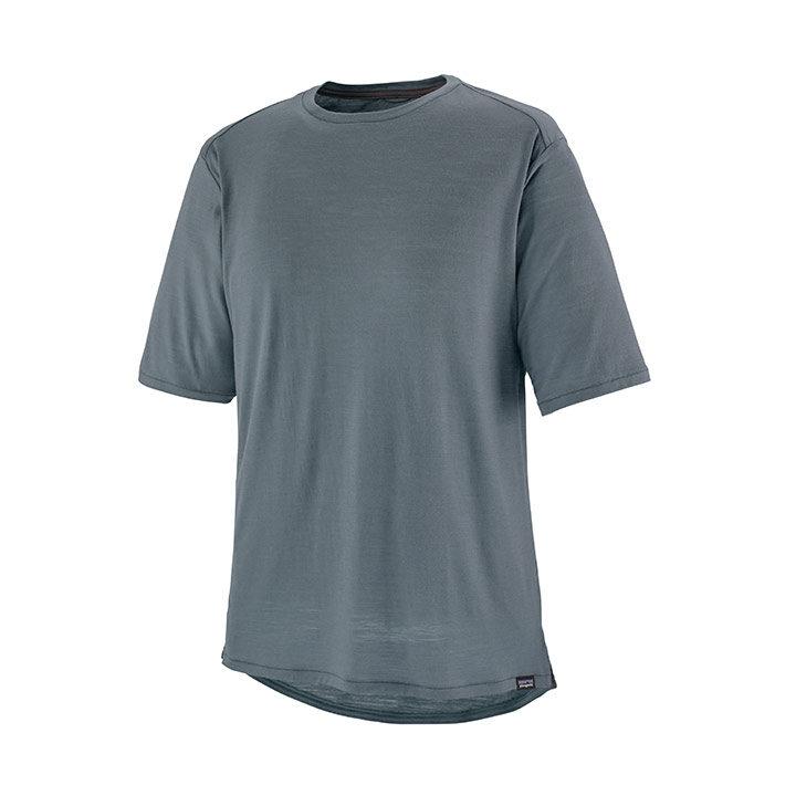 Patagonia Short Sleeved Merino Bike Jersey Heren T-Shirt Plume Grey - Monkshop