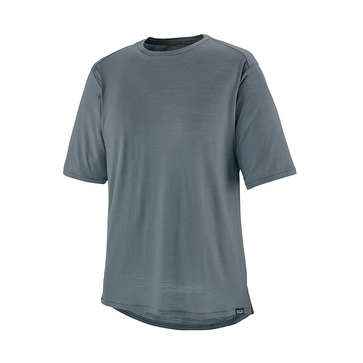 Patagonia Short Sleeved Merino Bike Jersey Heren T-Shirt Plume Grey - Monkshop
