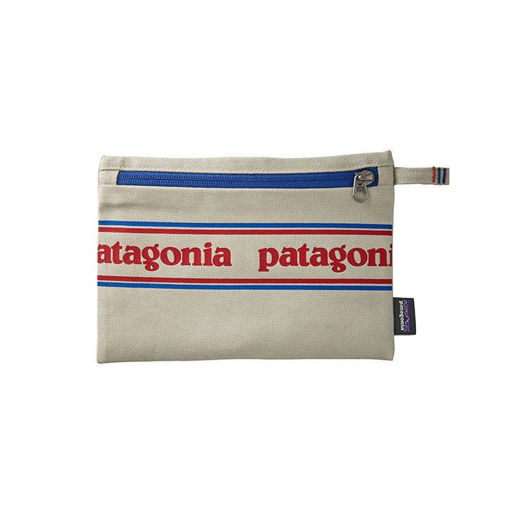 Patagonia Zippered Opbergtas Park Stripe Graphic Bleached Stone - Monkshop