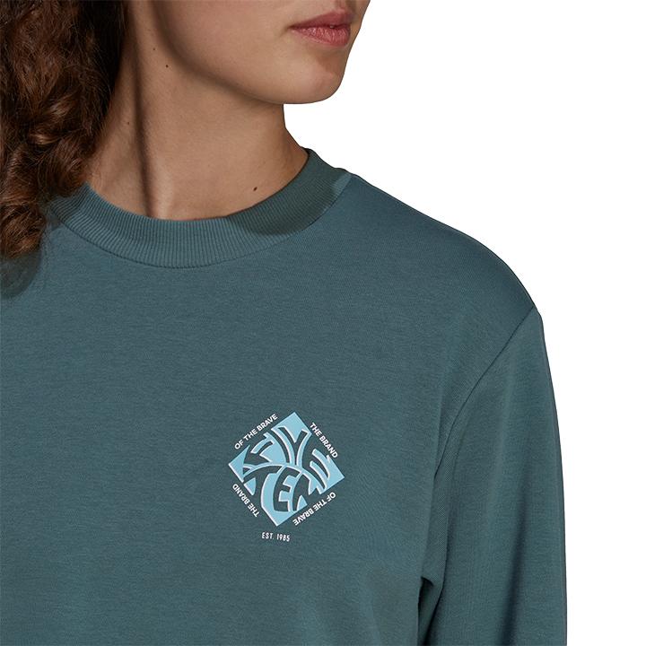 Adidas 5.10 Cropped Dames Sweatshirt Hazy Emerald - Monkshop