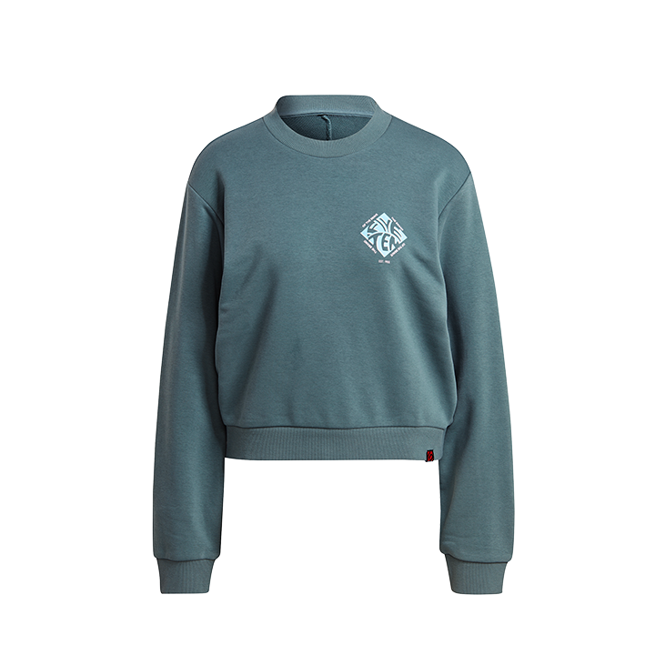 Adidas 5.10 Cropped Dames Sweatshirt Hazy Emerald - Monkshop
