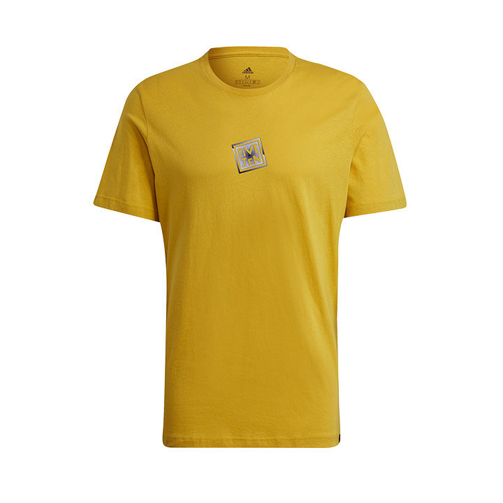 Adidas 5.10 Heritage Logo Heren T-Shirt Hazy Yellow - Monkshop
