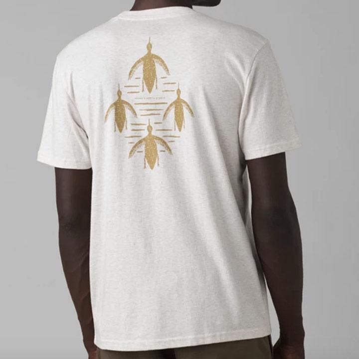 Prana Roots Studio Migration Heren T-Shirt Mist Heather - Monkshop