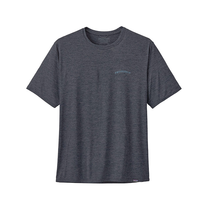 Patagonia Capilene Cool Daily Heren T-Shirt Playlands Mountains Smolder Blue X-dye - Monkshop