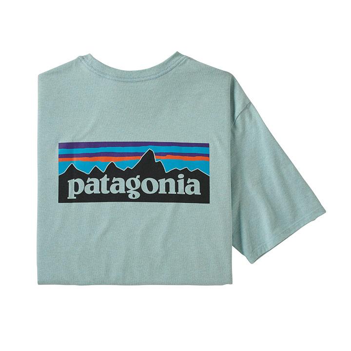Patagonia P-6 Logo Responsibili-Tee Heren T-Shirt Big Sky Blue - Monkshop