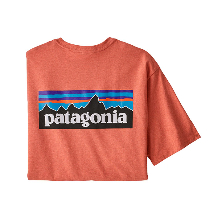 Patagonia P-6 Logo Responsibili-Tee Heren T-Shirt Coho Coral - Monkshop