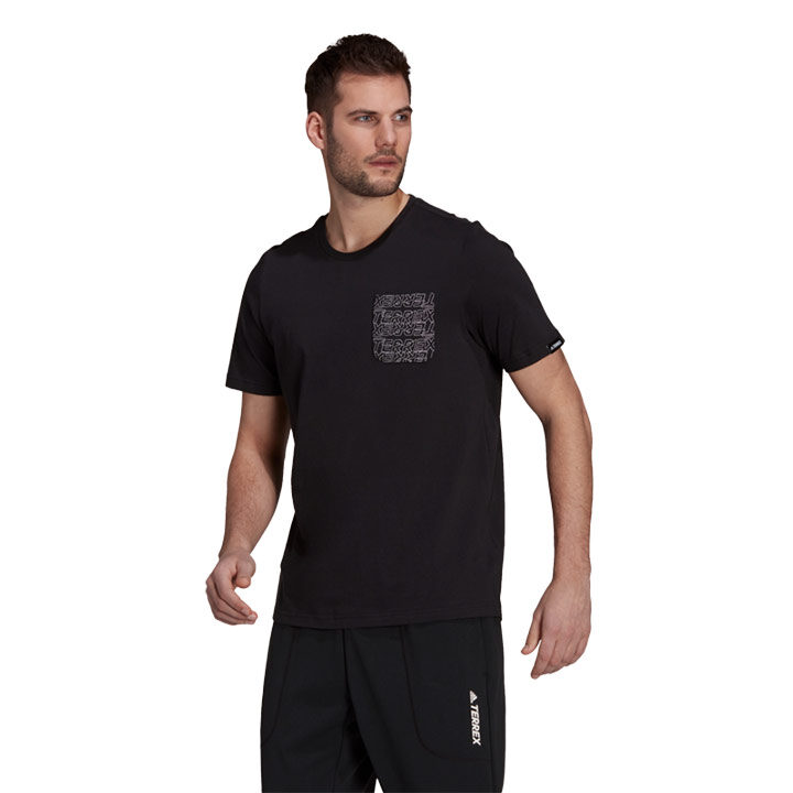 Adidas Terrex Pocket Graphic Heren T-Shirt Black/White - Monkshop