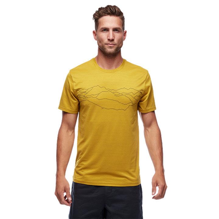 Black Diamond Genesis Tech Heren T-Shirt Sulphur Mountain Print - Monkshop
