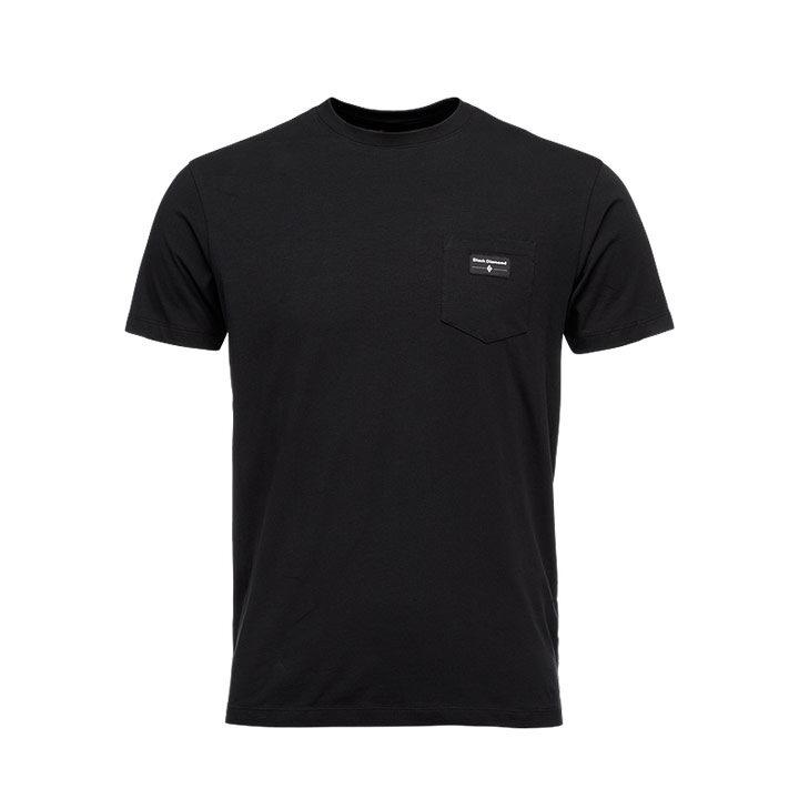 Black Diamond Pocket Label Heren T-Shirt Black - Monkshop