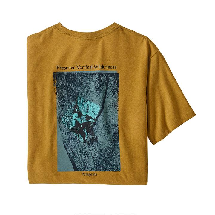 Patagonia Granite Magic Pocket Responsibili-Tee Heren T-Shirt Hawk Gold - Monkshop