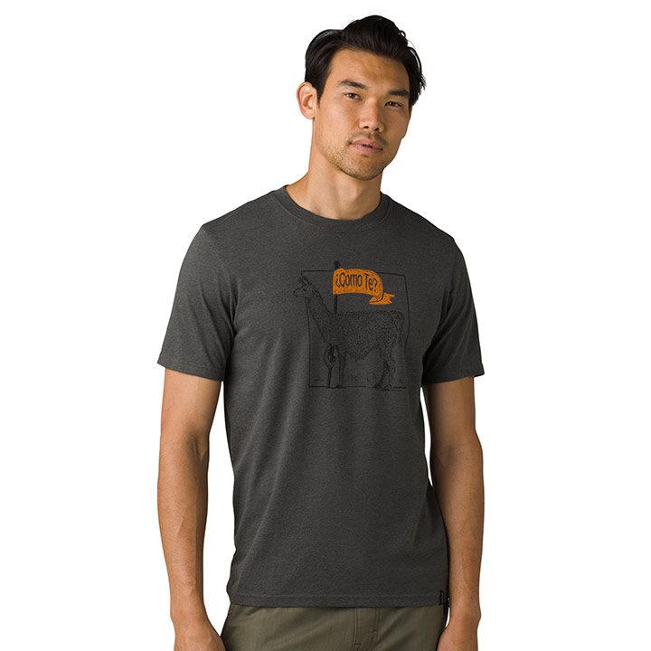 Prana Como Te Llama Journeyman 2 Heren T-Shirt Charcoal Heather - Monkshop