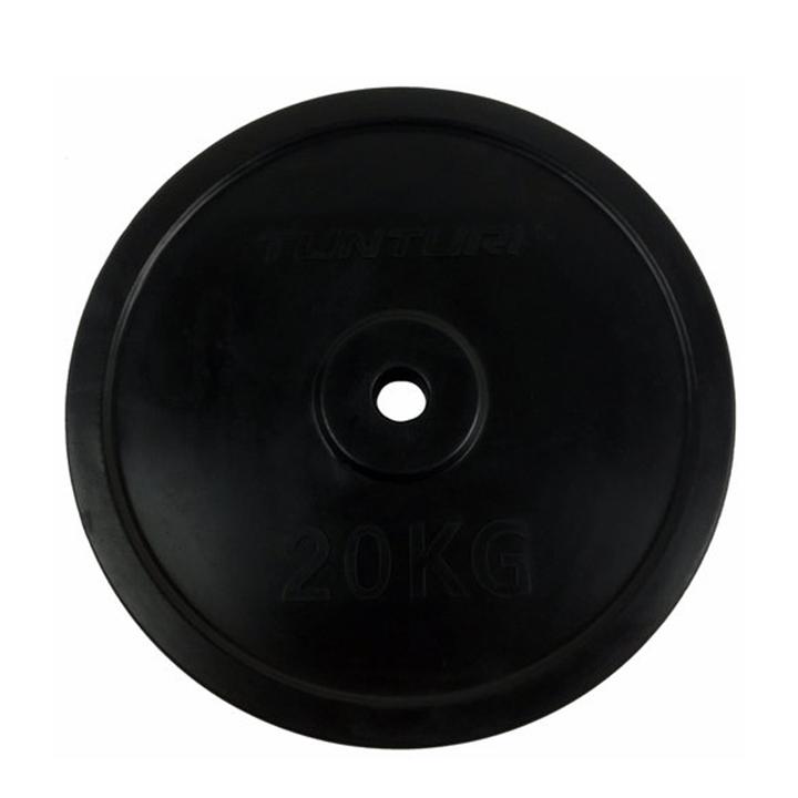 Tunturi Halterschijf Rubber 20 kg - Monkshop