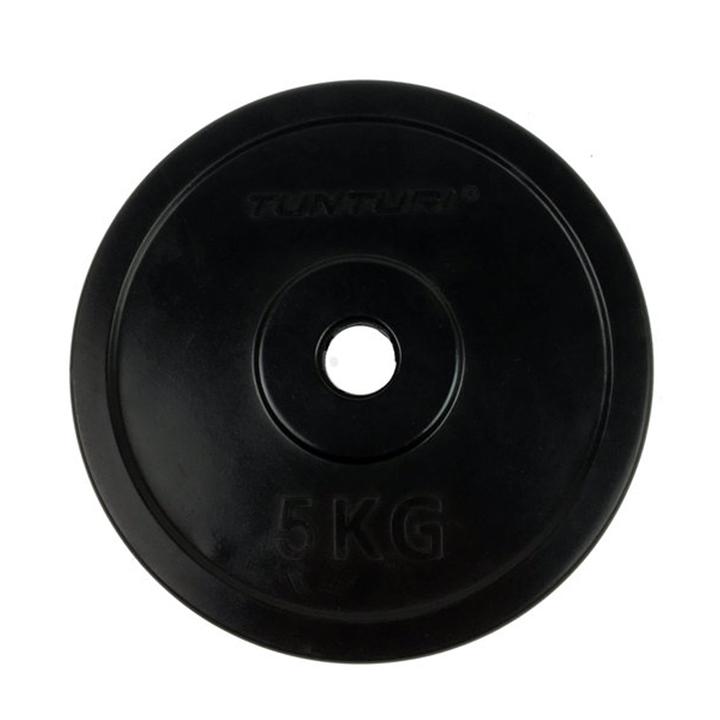 Tunturi Halterschijf Rubber 5 kg - Monkshop